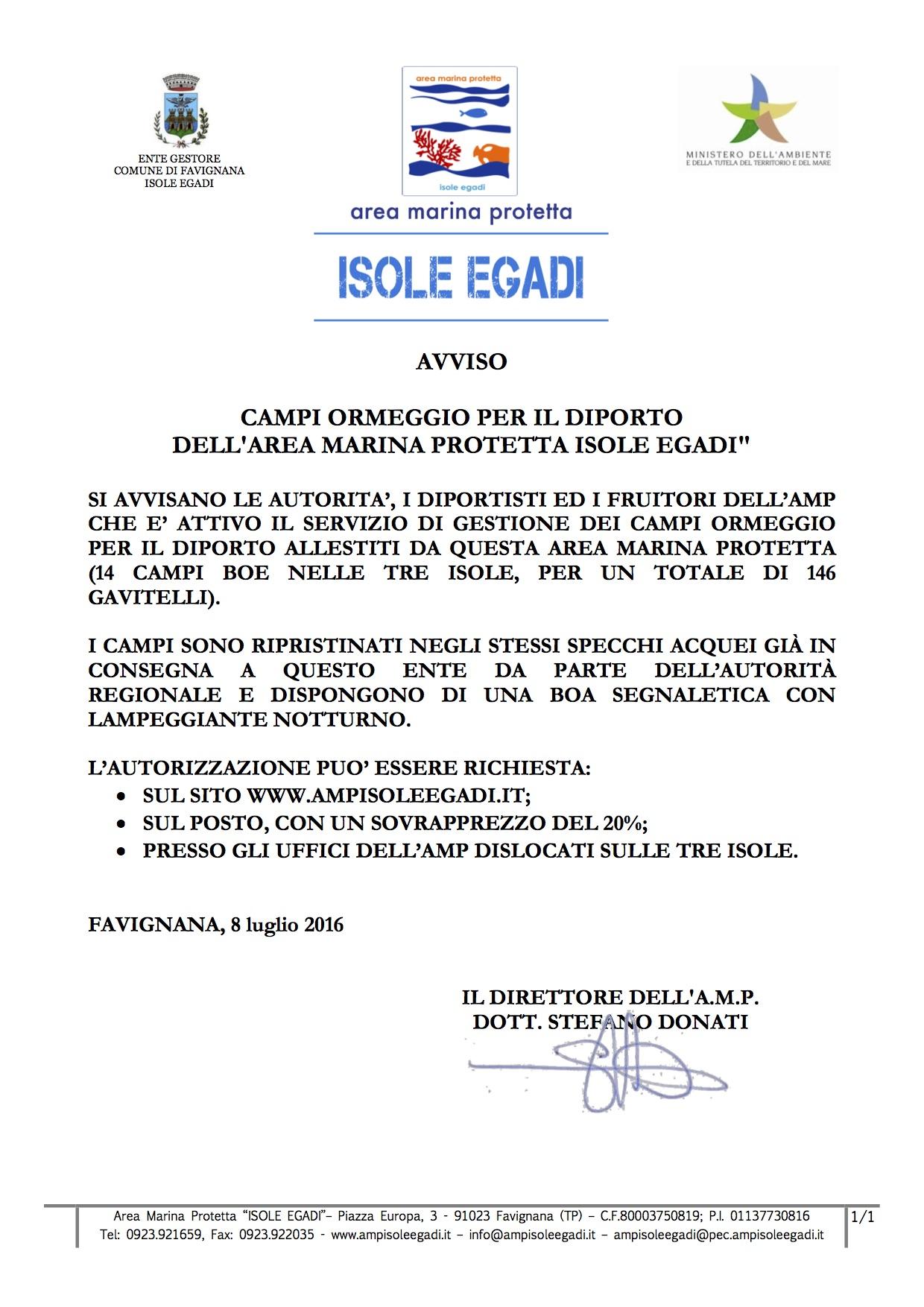 avviso gestione CAMPI BOE 2016